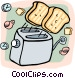 toast flying out of a toaster Vector Clipart picture