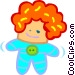 doll Vector Clip Art picture