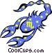Scorpio symbol Vector Clip Art image
