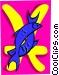 Pisces symbol Vector Clip Art picture