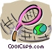 racket sports Vector Clipart image