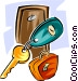 hotel keys Vector Clipart graphic