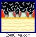 smog and smokestacks Vector Clip Art graphic