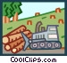 deforestation Vector Clipart image