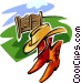 ranch design with hat and Vector Clip Art picture