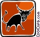 bull Vector Clip Art image