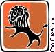 lion Vector Clipart graphic