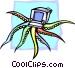 octopus computer concept Vector Clip Art graphic