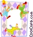 Birthday party clown background Vector Clipart picture