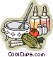 oil and vinegar salad Vector Clipart picture