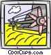 wheat harvester Vector Clip Art image