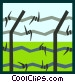 barbed wire Vector Clip Art graphic
