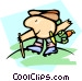 hiker Vector Clip Art picture