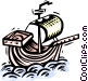 Christopher Columbus' ship Vector Clipart graphic