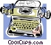 typewriter concept Vector Clipart picture