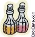 bottles of liquid Vector Clipart graphic
