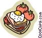 egg sandwich Vector Clip Art image