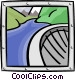 dam and river Vector Clip Art image