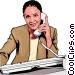 Businesswoman on phone Vector Clipart illustration