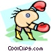boxer Vector Clipart illustration