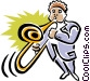 man with trombone Vector Clipart picture