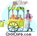 coffee wagon Vector Clip Art picture