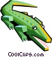 alligator Vector Clipart graphic