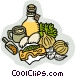 salad dressing ingredients Vector Clip Art image