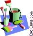 painter's tools Vector Clip Art image