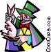 magician Vector Clipart image