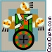 gambling Vector Clip Art image