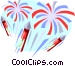 Fireworks display Vector Clip Art graphic