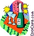 Bottle of wine Vector Clipart image