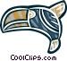 symbolic bird Vector Clip Art image