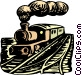 Steam train Vector Clip Art graphic