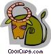 symbolic deer Vector Clip Art image