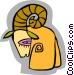 symbolic ram Vector Clip Art picture