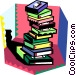 stack of books Vector Clipart picture