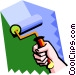 rolling paint Vector Clipart image
