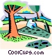 country landscape Vector Clip Art graphic