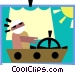 sailing Vector Clipart graphic