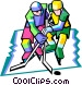 hockey players Vector Clipart graphic
