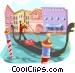 Venice gondola Vector Clip Art image