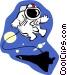space walk Vector Clip Art image