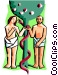 Adam and Eve Vector Clipart picture