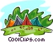 tents in park Vector Clipart graphic