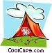 tent with feet exposed Vector Clipart illustration
