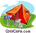 tent with canopy Vector Clip Art picture