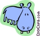cartoon hippo Vector Clip Art image