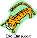 cartoon tiger Vector Clip Art picture